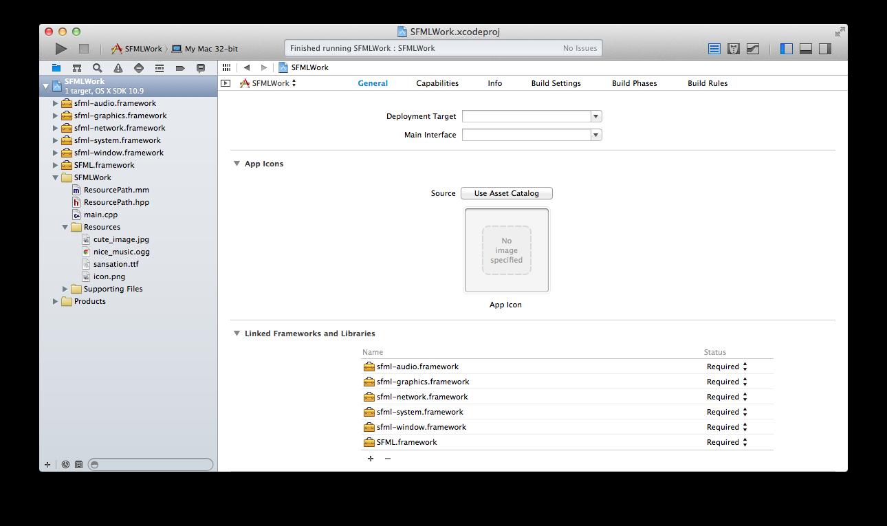 SFML in Xcode 5 | Chris Heydrick: Serial Hobbyist